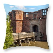 Kirkby Muxloe Castle Throw Pillow
