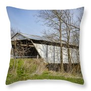Kirker Covered Bridge  Throw Pillow