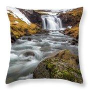 Kirkjufellsfoss Sibling  Throw Pillow