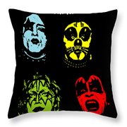 Kiss No.02 Throw Pillow by Caio Caldas