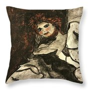 Kiss Of Life-figure Drawing Throw Pillow