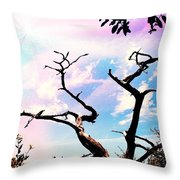 Kiss Of Spring Hues Throw Pillow