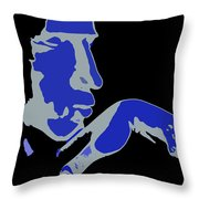 Kiss Of The Blues Throw Pillow