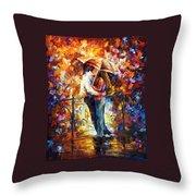 Kiss On The Bridge Throw Pillow
