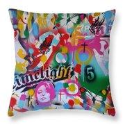 Kiss The Rainbow Throw Pillow