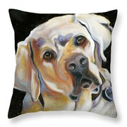 Kissably Close Lab Throw Pillow