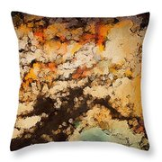 Kissed By Autumn's Winds Throw Pillow