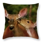 Kisses For Mom Throw Pillow