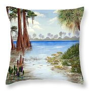 Kissimee River Shore Throw Pillow
