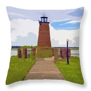 Kissimmee Lighthouse Throw Pillow