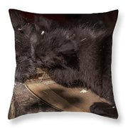 Kissing Between Fights Throw Pillow