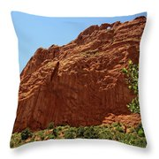 Kissing Camels At The Garden Of The Gods Throw Pillow