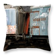 Kissing Cars Throw Pillow