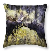 Kissing In The Rain Throw Pillow