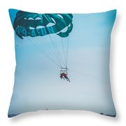Kissing Over The Ocean Throw Pillow