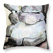 Kissing Rocks Throw Pillow by Jane Clatworthy