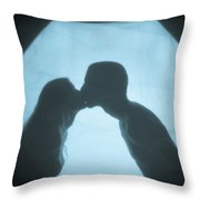 Kissing Throw Pillow