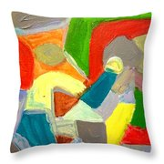 Kissy Road Market - Kissy - Freetown Throw Pillow