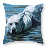 Kita Swimming The Platte Throw Pillow