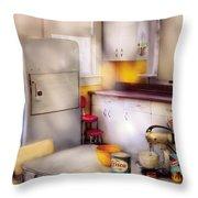 Kitchen - A 1960's Kitchen  Throw Pillow