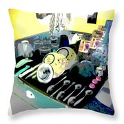 Kitchen Composition Throw Pillow by Eikoni Images