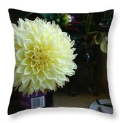 Kitchen Dahlia Throw Pillow