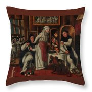 Kitchen In A Convent Throw Pillow