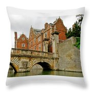 Kitchen Or Wren Bridge And St. Johns College From The Backs. Cambridge. Throw Pillow
