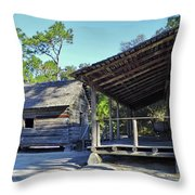 Kitchen Out Back Throw Pillow