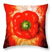 Kitchen Red Pepper Art Throw Pillow