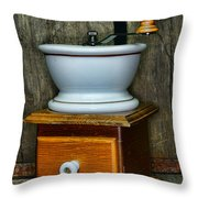 Kitchen - Retro Coffee Maker Throw Pillow