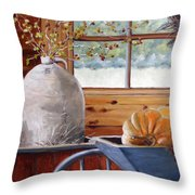 Kitchen Scene Throw Pillow