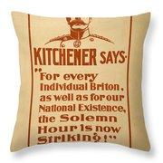 Kitchener Redux - Vote Throw Pillow