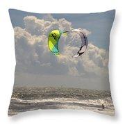 Kite Boarding Buxton Obx  Throw Pillow