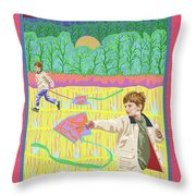 Kite Day Throw Pillow