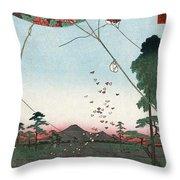 Kite Flying Throw Pillow