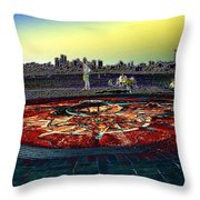 Kite Hill Sundial Throw Pillow