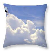 Kite In The Clouds Obx Buxton North Carolina Throw Pillow