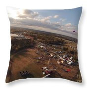 Kites Over Carnival Throw Pillow