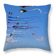 Kite Season Throw Pillow