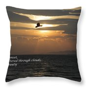 Kite Sunset - Haiku Throw Pillow