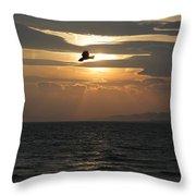 Kite Sunset Throw Pillow