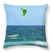 Kitesurfer Dude Throw Pillow