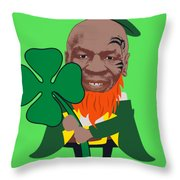 Kith Me I'm Irith Funny Novelty Mike Tyson Inspired Design For St Patrick's Day Throw Pillow