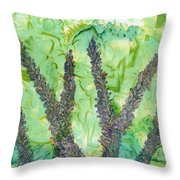 Kits Garden Throw Pillow
