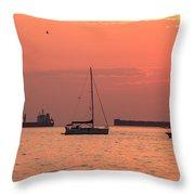 Kitsilano Sunset II Throw Pillow