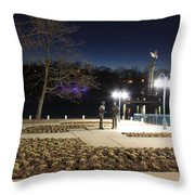 Kittamaqundi Nights - Rouse Brothers Strategize Throw Pillow