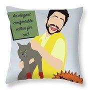 Kitten Mittons Throw Pillow