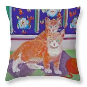 Kittens With Wild Wool Throw Pillow