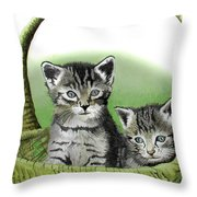 Kitty Caddy Throw Pillow